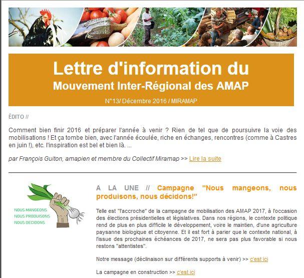 lettre info miramap