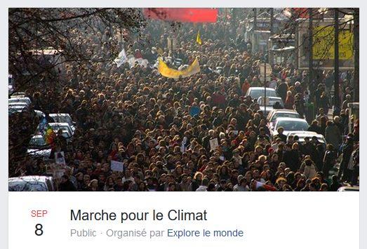 Marche pour le climat samedi 8 septembre