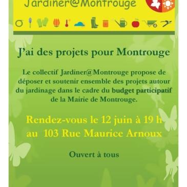 Réunion Jardiner à Montrouge le 12 juin – Budget participatif de la mairie