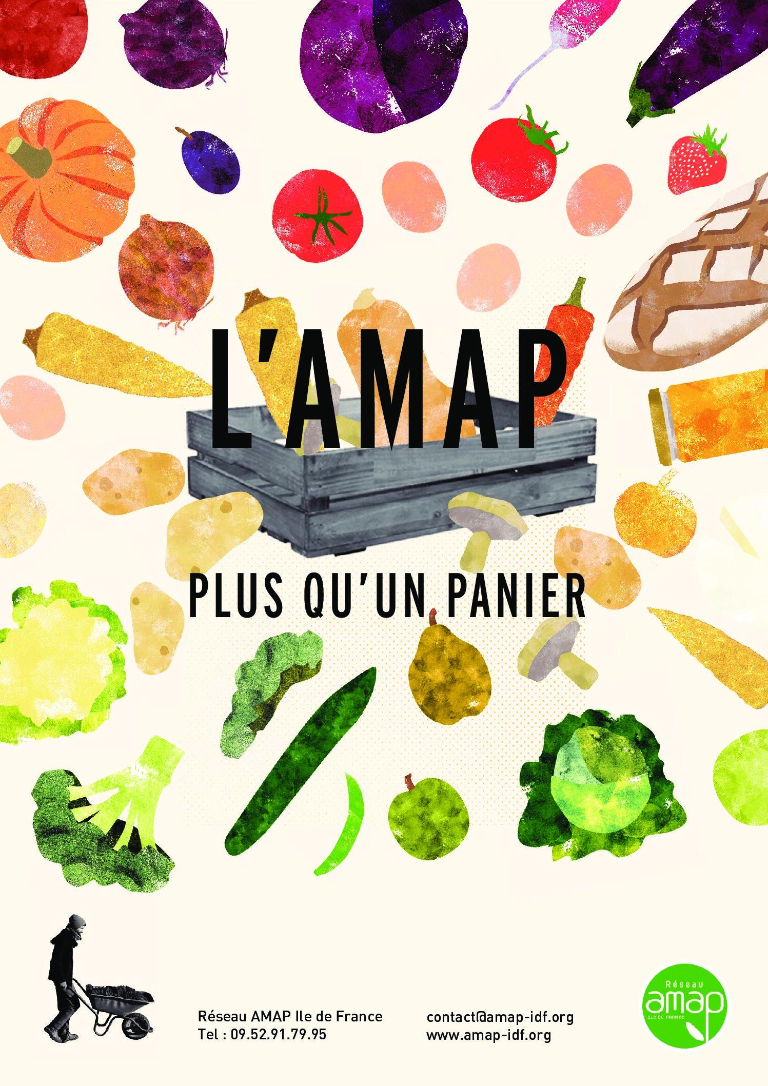 amap affiche a3 panier