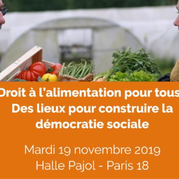 19 novembre – Droit à une alimentation DURABLE pour tous ! des lieux pour construire la démocratie sociale