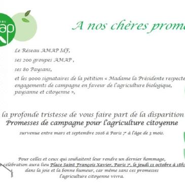 Après la pétition, l'action ! RDV le jeudi 13 octobre devant le Conseil Régional pour enterrer les promesses de campagne